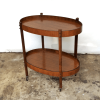 Mid-Century Oval Bar Cart | Chairish