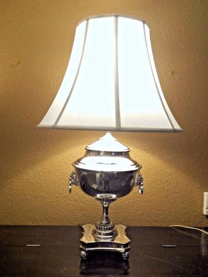 Ralph Lauren Samovar Table Lamp in Polished Silver  Chairish