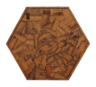 Contemporary Wood Puzzle Piece Wall Art | Chairish