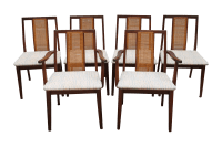 Mid-Century Hibriten Cane Back Chairs - Set of 6 | Chairish