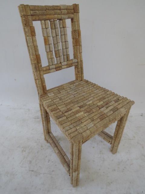 Stephan Palais Wine Cork Chair  Chairish