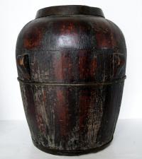 Chinese Wooden Rice Barrel | Chairish