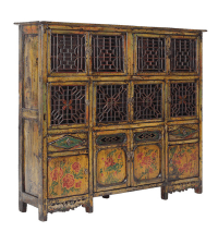 Vintage DongBei Kitchen Dining Room Curio Cabinet | Chairish