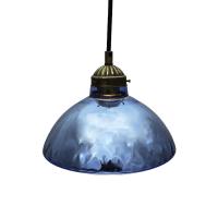 Antique Blue Mercury Glass Pendant | Chairish