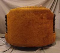 Vintage Orange Mid-Century Round Chaise   Chairish