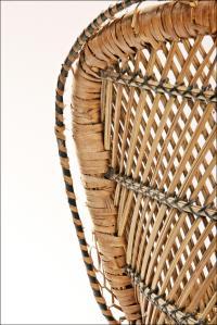 Vintage Mid-Century Wicker Peacock Chair | Chairish