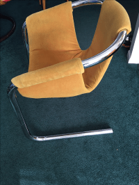 Mid-Century Modern Chrome Tubular Sling Chairs - Pair ...