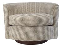 Mid-Century Modern Selig Monroe Swivel Club Chair | Chairish