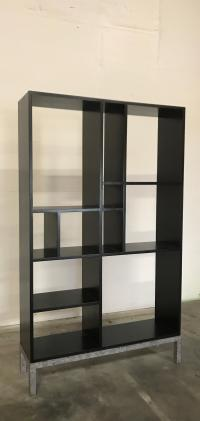 Contemporary Style Solid Wood Bookcase | Chairish