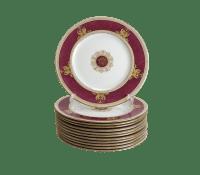 Wedgwood Porcelain Columbia Raised Gilt & Powder Red ...
