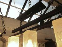 Hand Blown Glass Triple Light Fixture