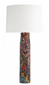 Mosaic Tile Lamp | Chairish