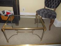 Vintage Maison Jansen Glass Side Table | Chairish