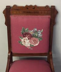 Victorian Eastlake Floral Side Chair