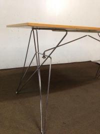 Atomic Mid-Century Modern Dining Table   Chairish