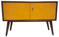 Small Mid-Century German Modern Mahogany Cabinet | Chairish