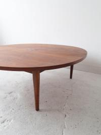 Kipp Stewart for Drexel Mid-Century Round Coffee Table ...