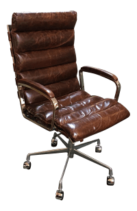 Restoration Hardware Oviedo Cocoa Leather Office Chair ...