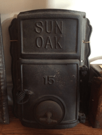 Antique Cast Iron Furnace Door