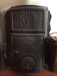 Antique Cast Iron Furnace Door | Chairish