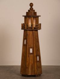 Exquisite Vintage French Handmade Wood Lighthouse Floor ...
