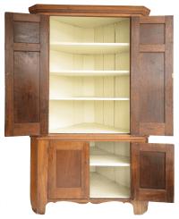 Antique American Cherry Corner Cabinet | Chairish