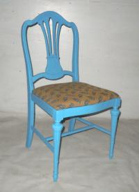 Blue Mid-Century Accent Chair | Chairish