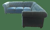 Anthropologie Velvet Lyre Sectional Sofa | Chairish