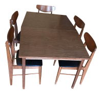 Stanley Furniture Mid-Century Modern Dining Table & Chairs ...