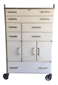 Vintage Mid-Century Medical Rolling Cabinet | Chairish