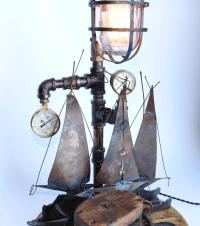 Vintage Nautical Lamp | Chairish