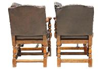 Vintage Spanish-Style Leather Chairs - Set of 4 | Chairish