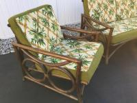 Mid-Century Modern Rattan Sofa and Chairs - Set of 3 ...