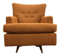 Mid Century Swivel & Rocking Club Chair | Chairish