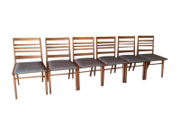 Mid Century Refinished Dining Chairs - Set of 6 | Chairish