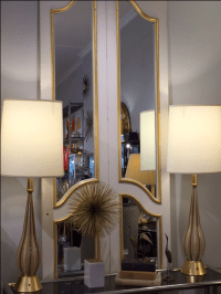 Vintage French Mirrored Doors - A Pair | Chairish