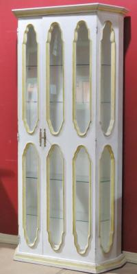 Allan Keith Distressed Painted Display Cabinet | Chairish