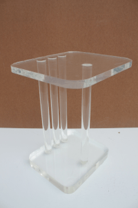 Mid-Century Modern Lucite Side Table | Chairish