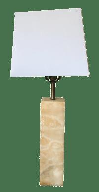 Mid-Century Modern Italian Marble Table Lamp | Chairish