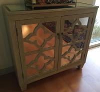 Mirrored Bar Cabinet | Chairish