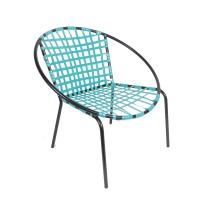 Mid-Century Patio Hoop Chairs - A Pair | Chairish
