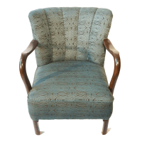 Antique Danish Art Deco Lounge Chair | Chairish