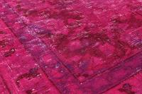 "Pink Vintage Persian Overdyed Rug - 9'4"" X 12'8"" 