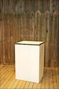 Mid-Century White Metal Storage Cabinet | Chairish