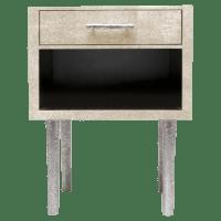 Made Goods Dario Single Ivory Nightstands - Pair | Chairish