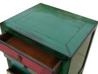 Mid-Century Mutli-Color File Cabinet   Chairish