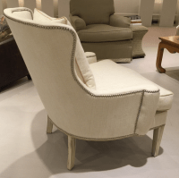 Southwood Transitional Modified Wing Chair   Chairish