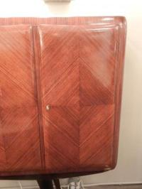 High-End Four-Door Mid-Century Tall Cabinet in Rosewood ...