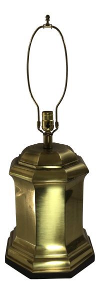 Frederick Cooper Asian Brass Canister Lamp   Chairish