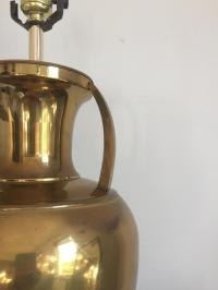 Chinese Brass Urn Canister Lamp   Chairish